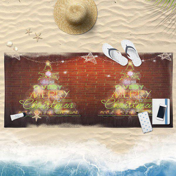 Fancy Neon Christmas Tree Pattern Bath Towel
