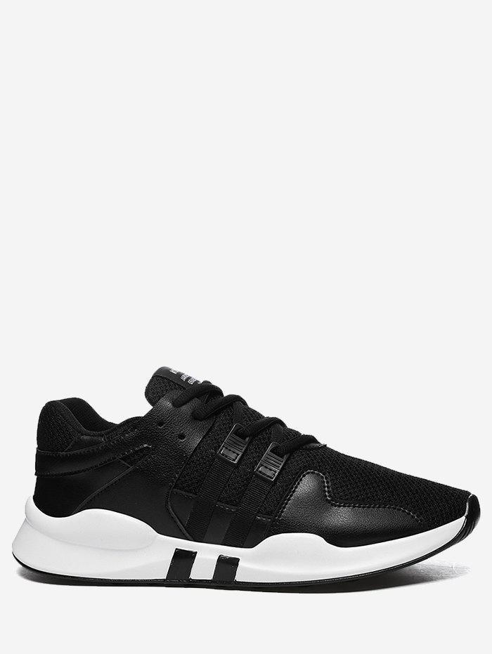 Outfit Color Block Mesh Breathable Sneakers