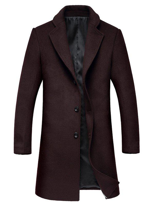 Shop Lapel Single Breasted Wool Mix Coat
