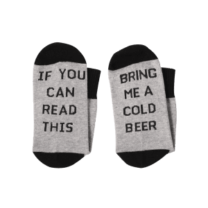 Bring Me A Color Beer Print Ankle Socks -