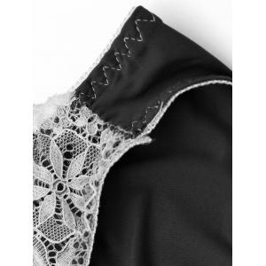 Lace Panel Low Rise Panties - BLACK ONE SIZE