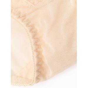 Lace Sheer Mesh Panties - LIGHT APRICOT ONE SIZE