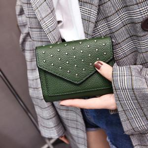 Geometric Rivets Triangle Wallet -