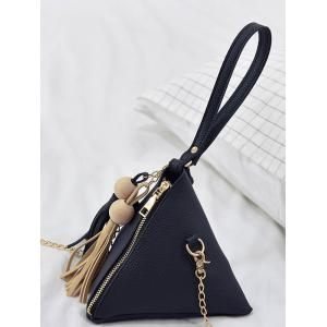Tassel Geometric Stereo Triangle Tote Bag -