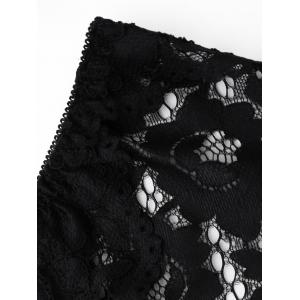 Low Waist Sheer Lace Panties - BLACK ONE SIZE