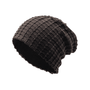 Outdoor Soft Plaid Pattern Velvet Thicken Beanie -