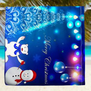 Water Absorption Snowman Serviette de bain de Noël -