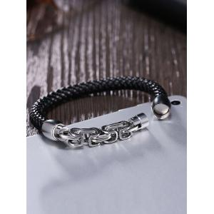 Link Chain Alloy Embellished Weaving Bracelet -