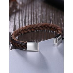 Faux Leather Braid Cool Bracelet -