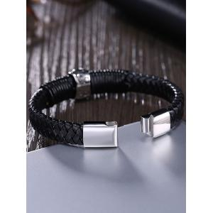 Faux Leather Halloween Skull Braid Bracelet -