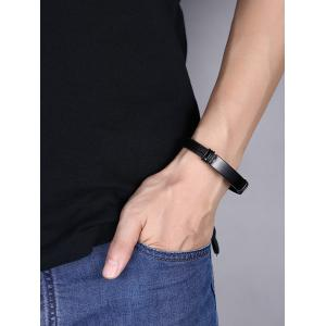 Bracelet Vintage Faux Leather - Noir
