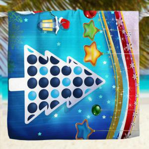 Cartoon Christmas Tree Snowman Bath Towel -