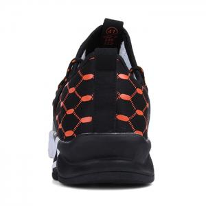 Geometric Pattern Lace-up Running Sneakers -