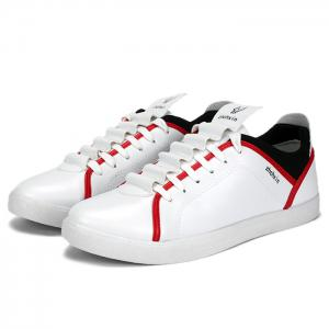 Color Block Round Toe Low Top Sneakers - Blanc 39