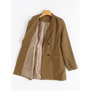Double Breasted Blazer - CAMEL M