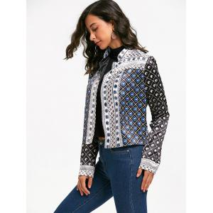 Printed Crop Jacket -