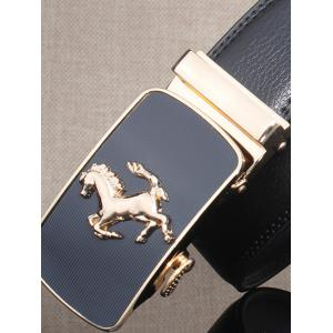 Stylish Horse Shape Emboss Automatic Buckle Wide Belt -