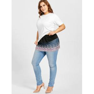 Plus Size Sheer Floral Lace Extender Skirt -