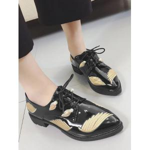 Broderie Wing Faux Pearl Chaussures plates -