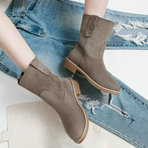 Ankle Slip On Faux Suede Boots -