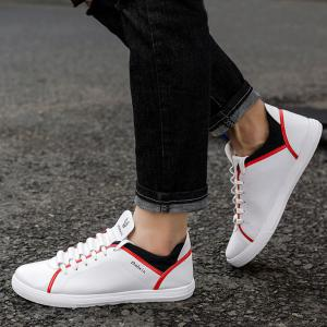 Color Block Round Toe Low Top Sneakers -