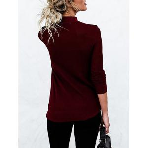 Choker Cut Out Long Sleeve Top -