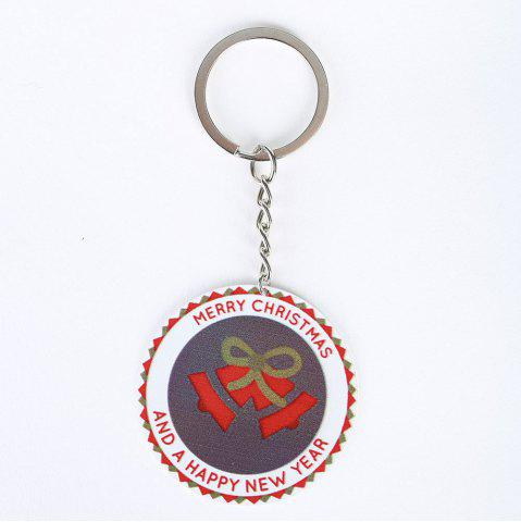 Cheap Christmas Bell Round Metal Key Chain