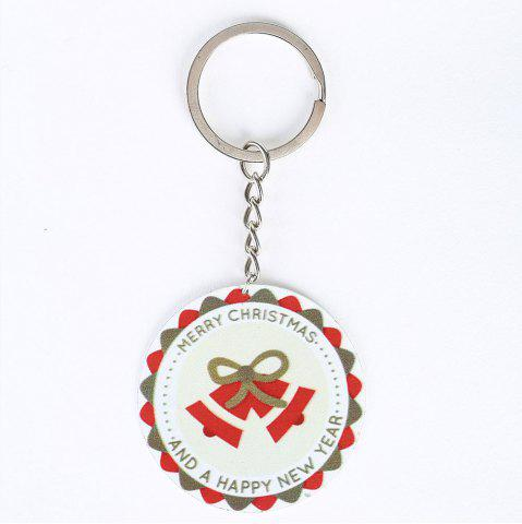 Affordable Christmas Bell Round Metal Key Chain