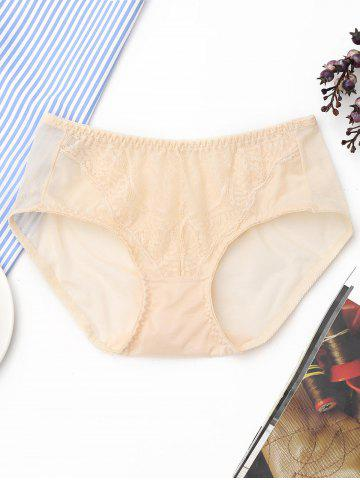 Outfit Lace Sheer Mesh Panties LIGHT APRICOT ONE SIZE