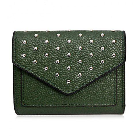 Outfits Geometric Rivets Triangle Wallet