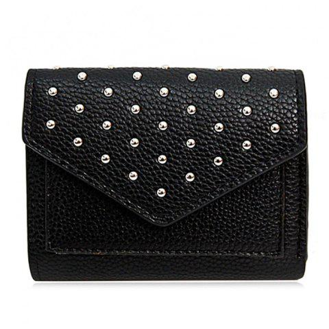 Fashion Geometric Rivets Triangle Wallet