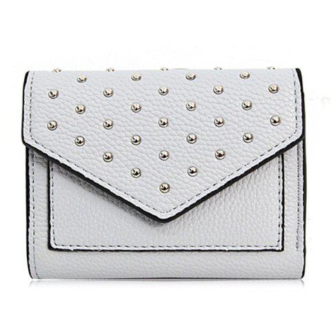 Outfit Geometric Rivets Triangle Wallet GRAY