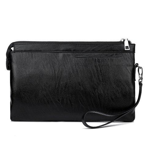 New Zip PU Leather Wristlet Bag