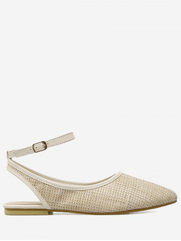 Sale Ankle Strap Slingback Straw Flat Shoes