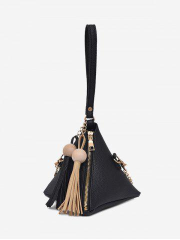 Latest Tassel Geometric Stereo Triangle Tote Bag