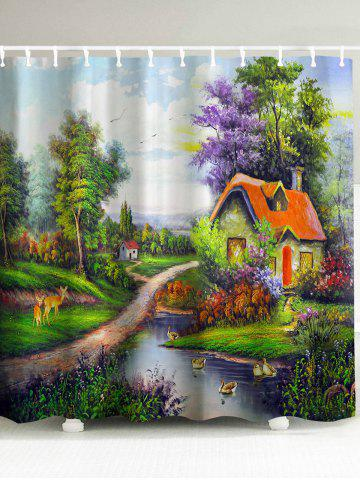 Outfits The Mountain Hut 3D Shower Curtain - 150*180CM COLORMIX Mobile