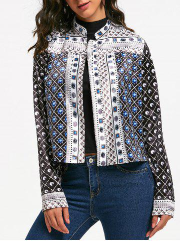 Buy Printed Crop Jacket - M BLACK Mobile