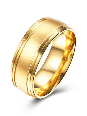 Outfits Circle Finger Alloy Ring - 8 GOLDEN Mobile