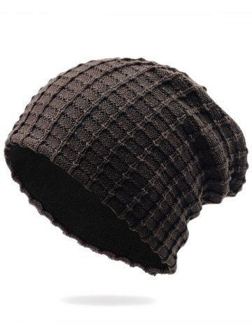 Best Outdoor Soft Plaid Pattern Velvet Thicken Beanie