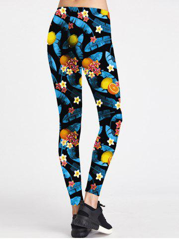 Hot Floral Colorful Sport Leggings - S COLORMIX Mobile