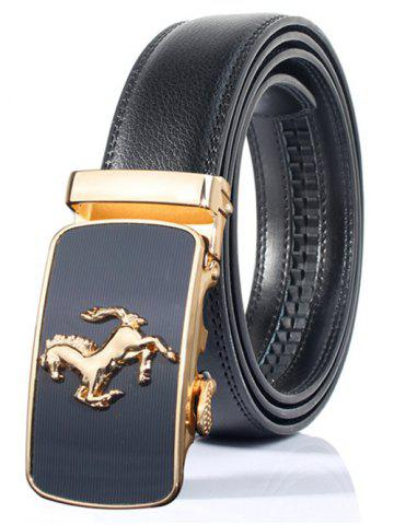 Outfit Stylish Horse Shape Emboss Automatic Buckle Wide Belt