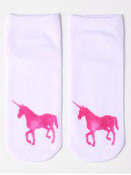 Unicorn Pattern Cartoon Socks -