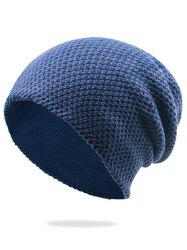 Outdoor Soft Thicken Slouchy Knited Beanie - DEEP BLUE