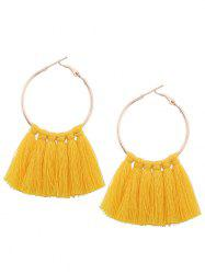 Alloy Tassel Circle Hoop Earrings -