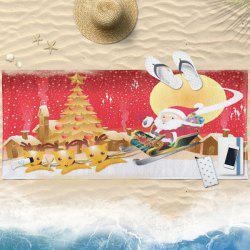 Water Absorption Christmas Sled Print Serviette de bain -