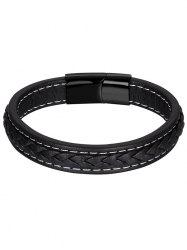 Braid Faux Leather Bracelet -