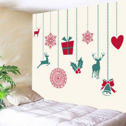 Christmas Gift Deer Print Tapestry Wall Hanging Art Decoration -