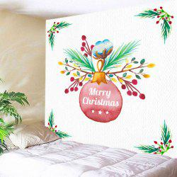 Merry Christmas Bauble Print Tapestry Wall Hanging Art Decoration -