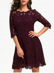 Lace Mini Evening Party Dress -