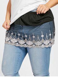 Plus Size Floral Lace Sheer Extender Skirt -
